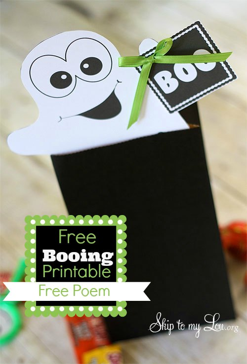 Booing Printable + Free Poem by Skip To My Lou