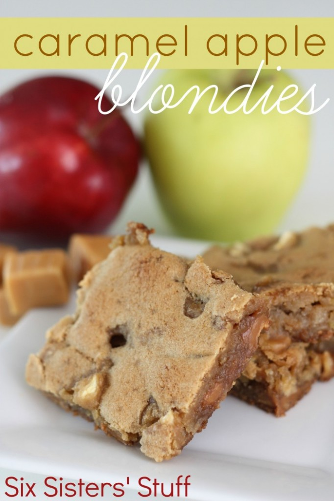 carmel apple blondies