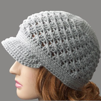 cross over long double crochet hat