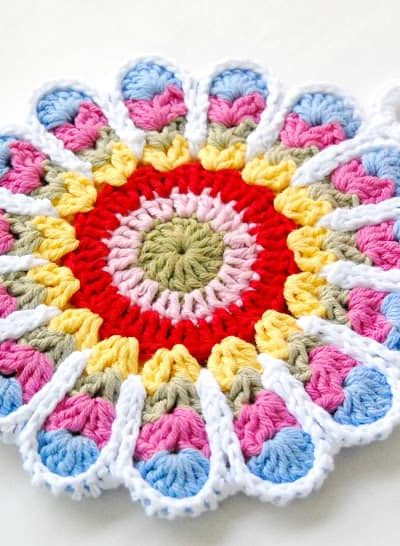 Crochet Flower Potholder