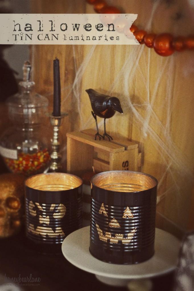 Halloween tin can luminaries by honey bear lane for Making luminaries
