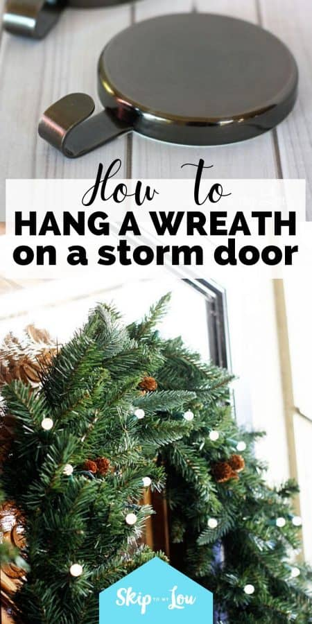 how to hang a wreath PIN