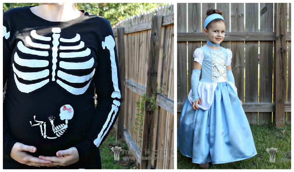 pregnant skeleton costume