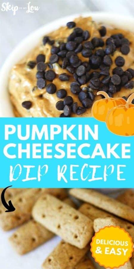 pumpkin cheesecake dip recipe PIN