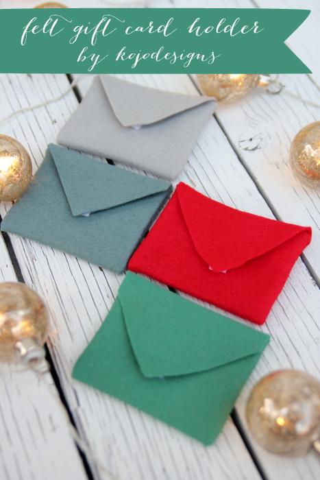 felt gift card holder tutorial