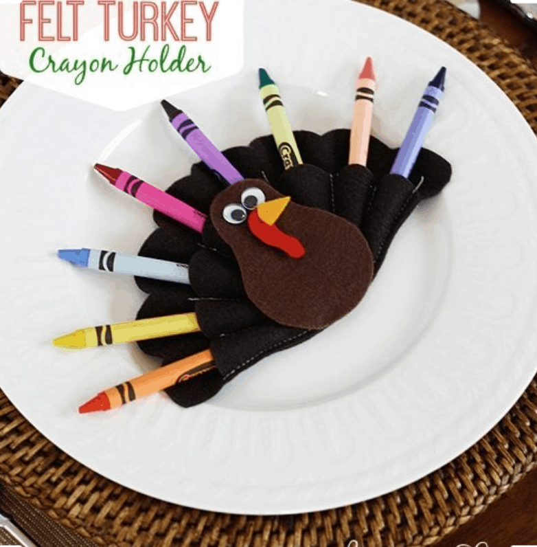 Felt Turkey Crayon Holder