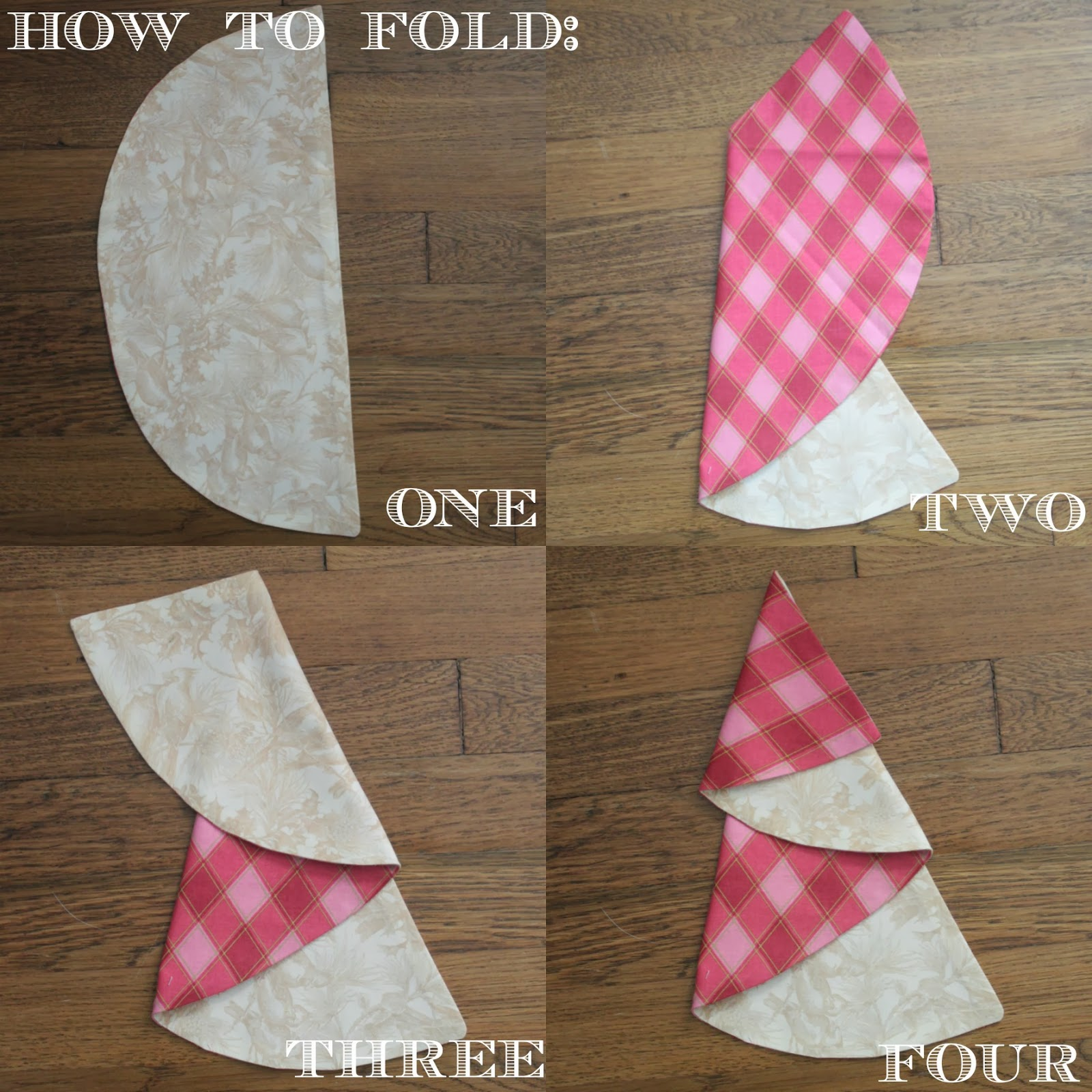 Christmas Tree Napkin Tutorial by Sew Caroline | Skip To My Lou