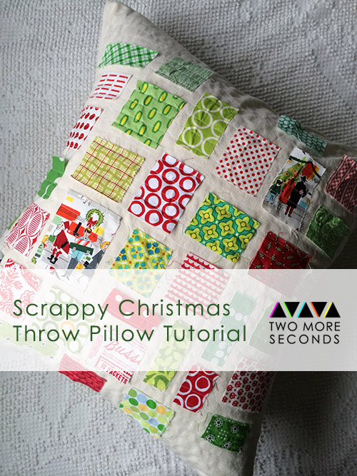 scrappy christmas pillow 1