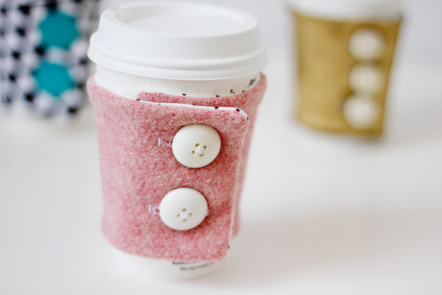 button up coffee cozy
