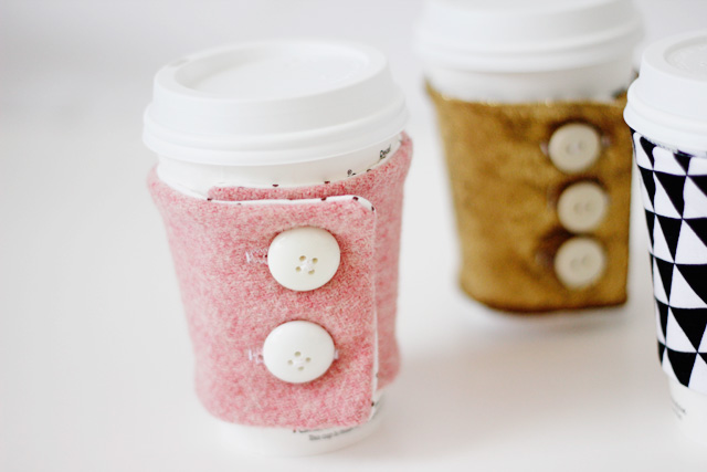 Free coffee cozy sewing pattern by See Kate Sew