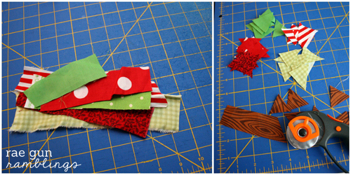 Cute bunting tutorial from scraps with Rae Gun Ramblings