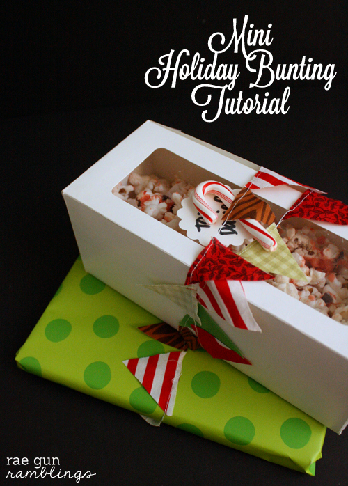 Mini holiday bunting tutorial by Rae Gun Ramblings