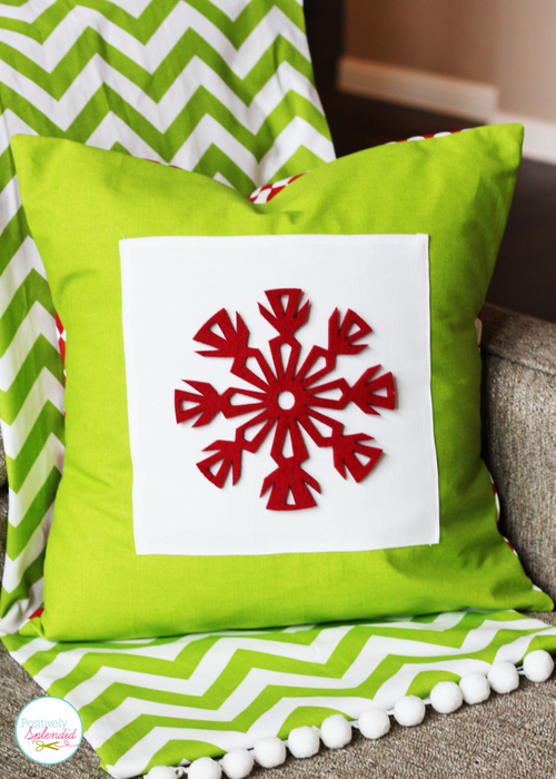 Easy Snowflake Pillow