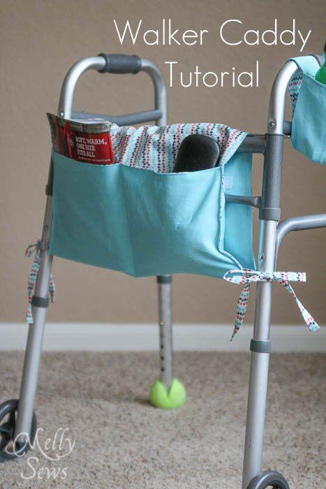 Walker Caddy Tutorial by Melly Sews - great gift for elderly relatives