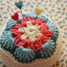 Cherry Heart Pin Cushion