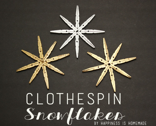 Clothespin Snowflake Tutorial