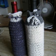 Crochet wine bottle cozy