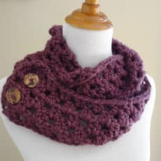 Fiona button crochet scarf