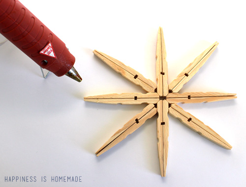 How to Assemble a Clothespin Snowflake