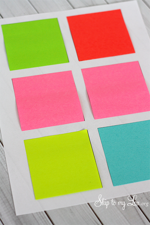 how to print on post it notes clever saying gift skip to my lou