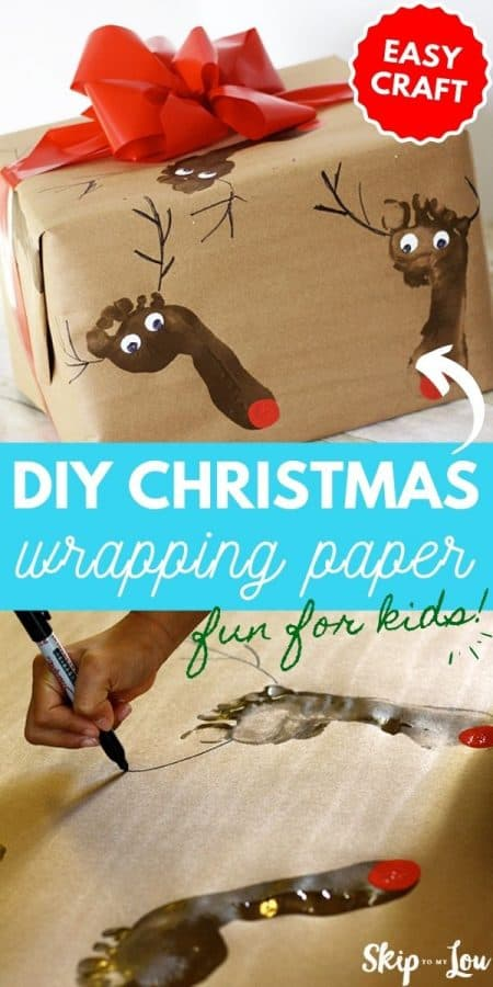christmas wrapping paper diy PIN