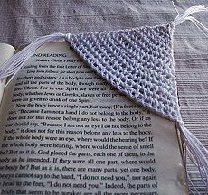 Crochet corner bookmark