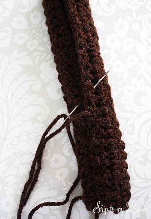 crochet sock bun tutorial 2