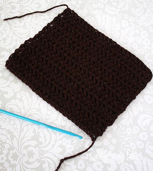 crochet sock bun tutorial
