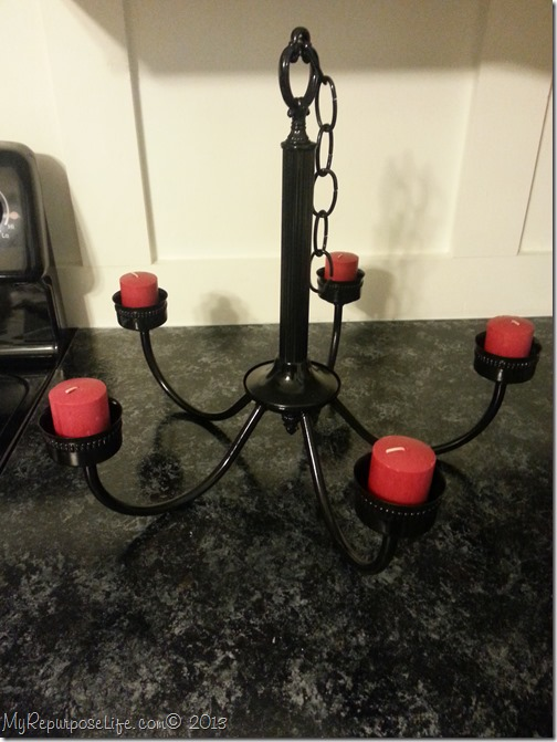 glossy black chandelier