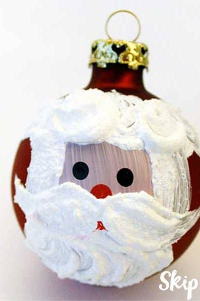 hand painted santa clause ornament