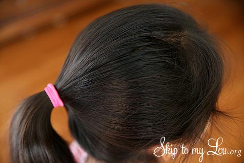 how to make a bun step 1 ponytail