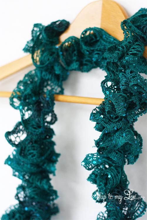crochet ruffle scarf skip to my lou