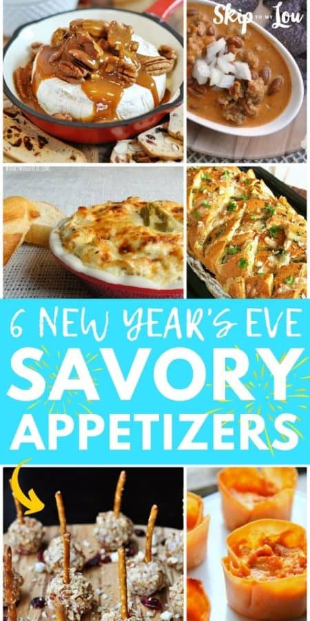 new years savory appetizers PIN