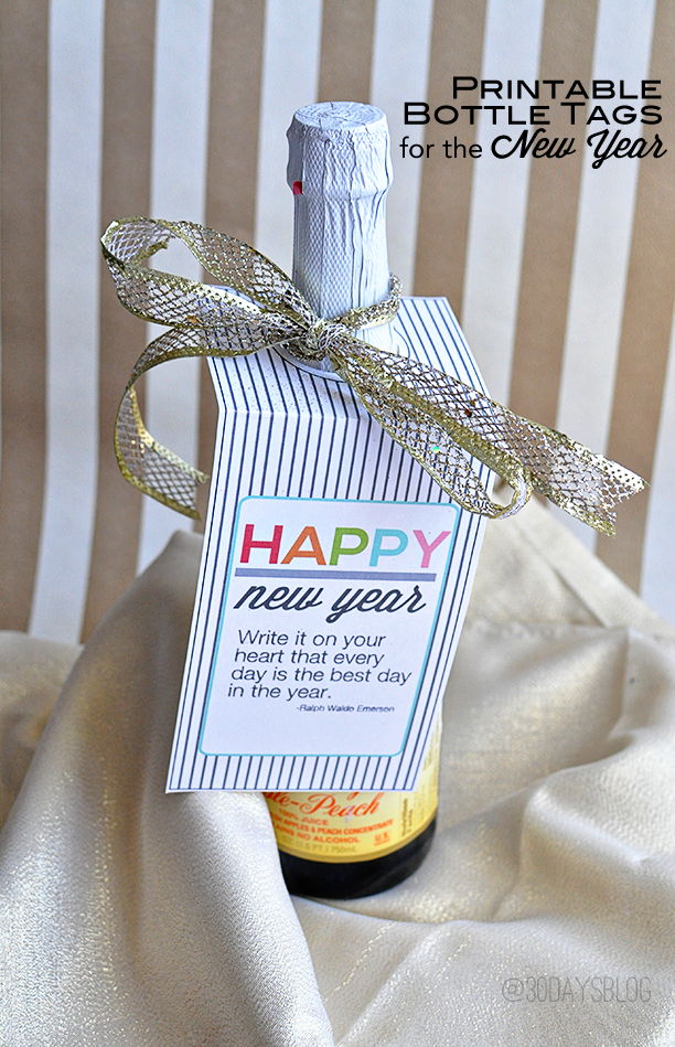 New Years Bottle Tags
