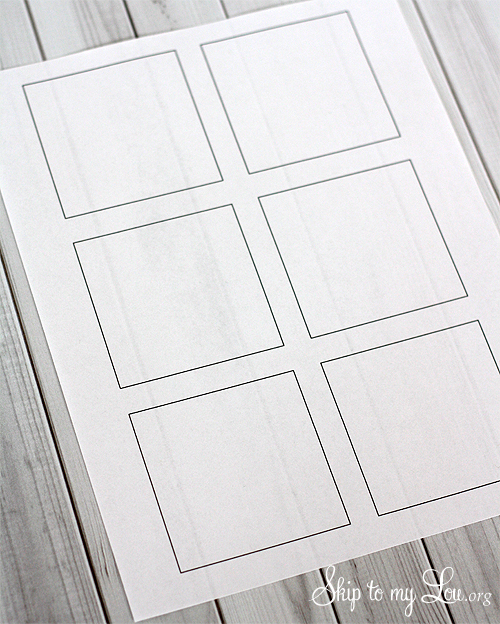 post-it note printing template