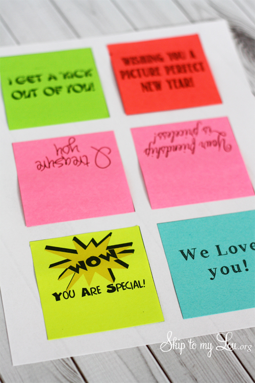 Printing Clever Sayings On Post It Notes