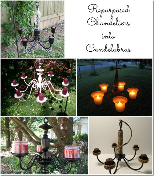 repurposed chandelier candelabras