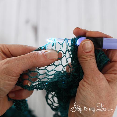 sashay scarf tutorial last step 1