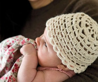 silk crochet baby hat