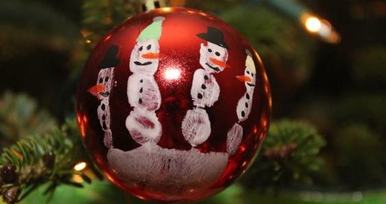 snowman handprint