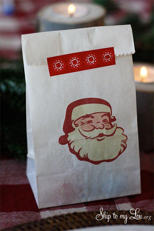 vintage digital santa image