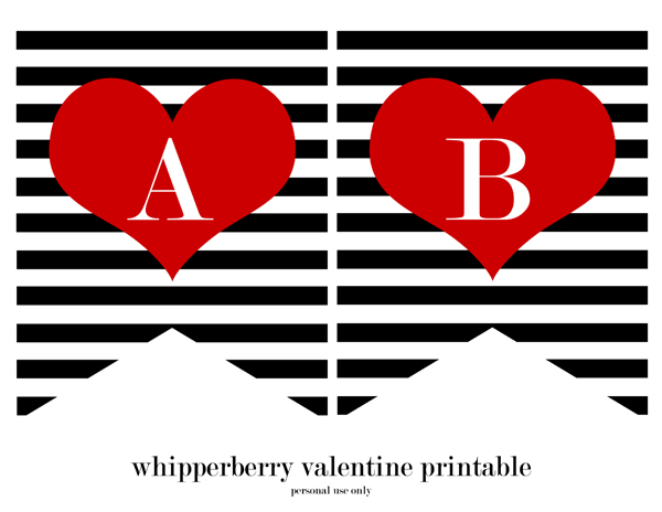 photograph regarding Valentine Banner Printable named Printable Valentine Banner As a result of Whipperberry Pass up In direction of My Lou