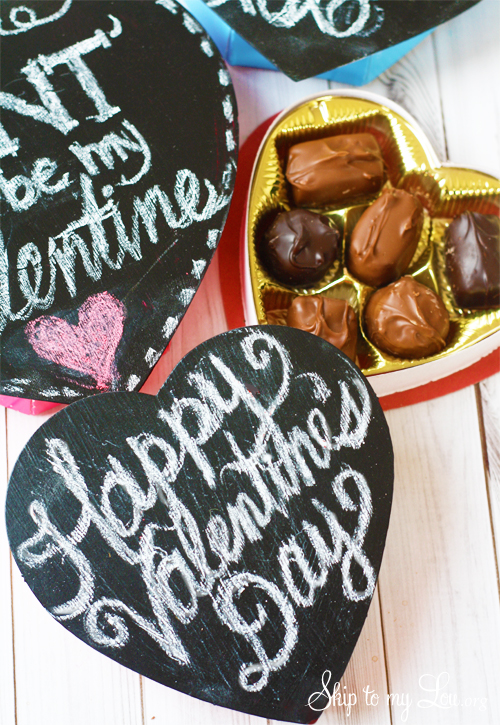 Chalkboard Heart Candy Box