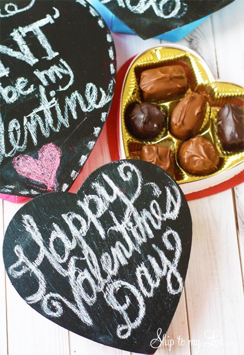 Chalkboard Heart Candy Box