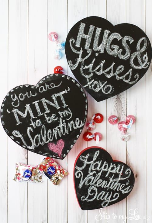 Diy Chalkboard Valentine Candy Box Skip To My Lou