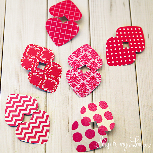 Heart Bunting punched heards