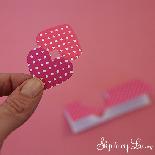 Heart Bunting punched heart