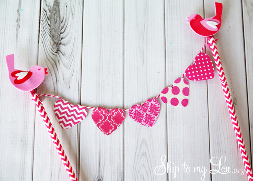 Heart Cake bunting tutorial