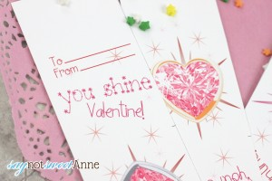 Printable Jeweled Necklace Valentines | by Saynotsweetanne.com via Skiptomylou.org | #valentine #vday #candy #cute #printable