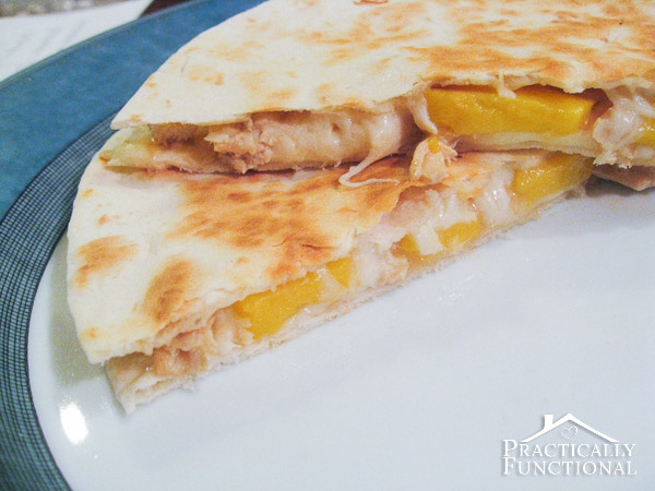mango chicken quesadillas